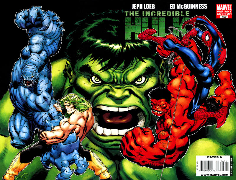 Cover for Incredible Hulk (Marvel, 2009 series) #600 [Variant Edition - Ed McGuinness]