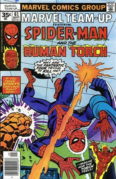 Cover for Marvel Team-Up (Marvel, 1972 series) #61 [35 cent cover price variant]