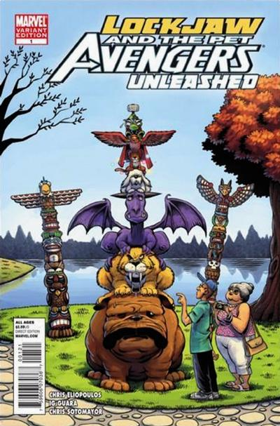 Cover for Lockjaw & the Pet Avengers Unleashed (Marvel, 2010 series) #1