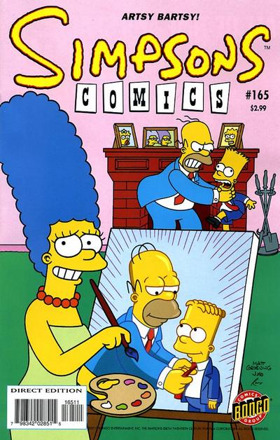 Cover for Simpsons Comics (Bongo, 1993 series) #165