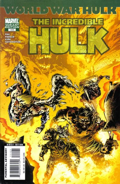 Cover for Incredible Hulk (Marvel, 2000 series) #111 [Zombie Variant Edition]