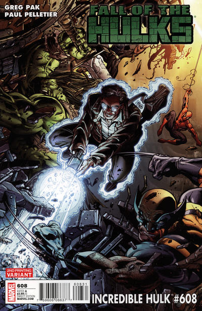 Cover for Incredible Hulk (Marvel, 2009 series) #608 [Second Printing]