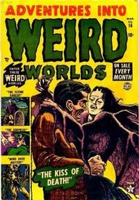Cover Thumbnail for Adventures Into Weird Worlds (Marvel, 1952 series) #16