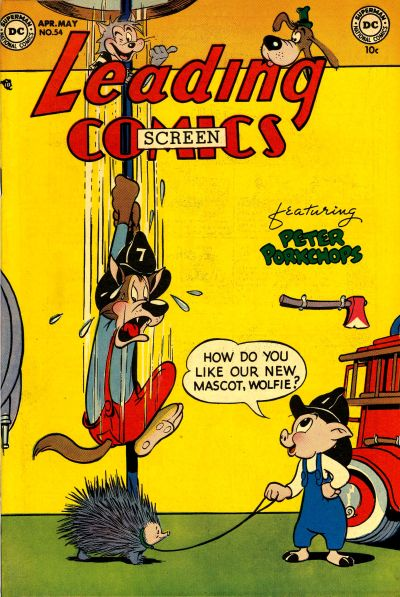 Cover for Leading Screen Comics (DC, 1950 series) #54
