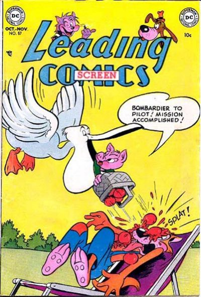 Cover for Leading Screen Comics (DC, 1950 series) #57