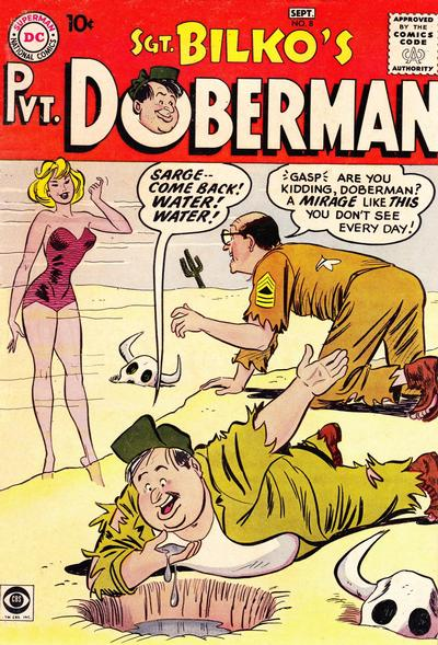 Cover for Sgt. Bilko's Pvt. Doberman (DC, 1958 series) #8