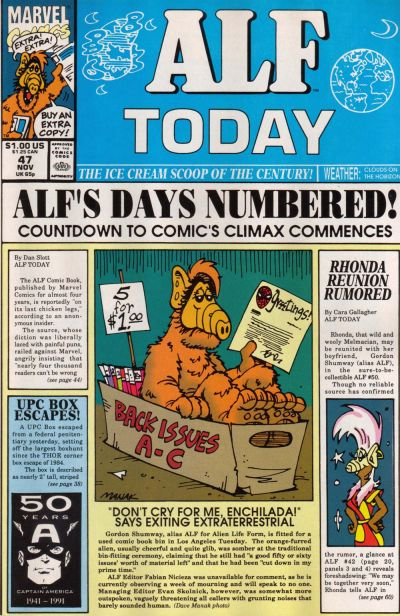 Cover for ALF (Marvel, 1988 series) #47