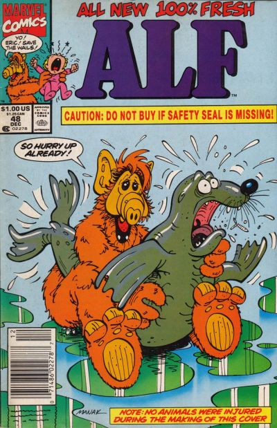 Cover for ALF (Marvel, 1988 series) #48 [Direct Edition]