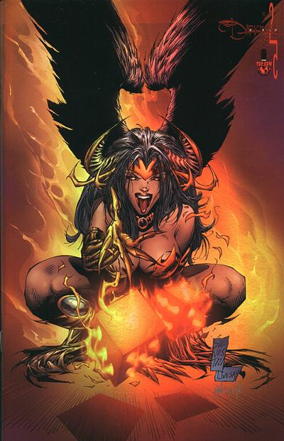 Cover for The Darkness (Image, 1996 series) #25 [Silvestri Holo Chrome Variant]