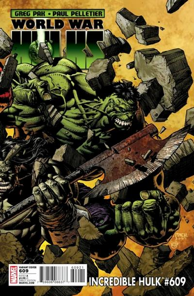 Cover for Incredible Hulk (Marvel, 2009 series) #609 [Direct Edition]