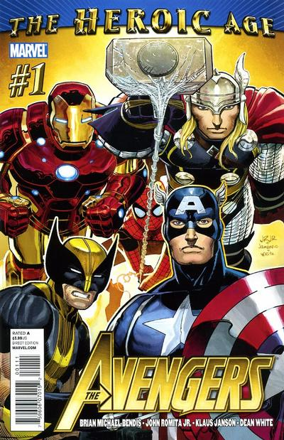 Cover for Avengers (2010 series) #1 [John Romita Sr. Variant Cover]