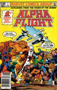 Cover Thumbnail for Alpha Flight (Marvel, 1983 series) #1 [Newsstand]