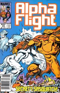 Cover Thumbnail for Alpha Flight (Marvel, 1983 series) #23 [Newsstand Edition]