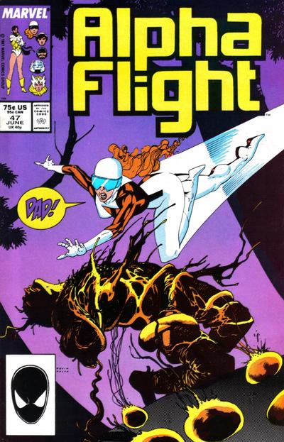 Cover for Alpha Flight (1983 series) #47 [Newsstand Edition]