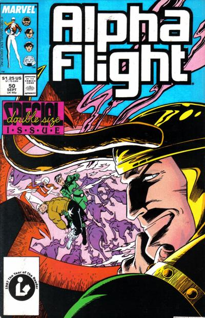 Cover for Alpha Flight (Marvel, 1983 series) #50 [Direct Edition]