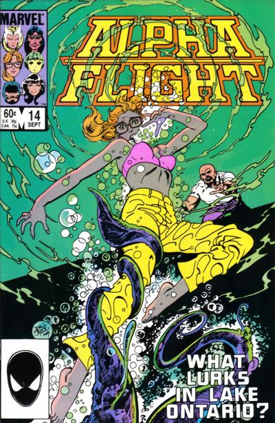 Cover for Alpha Flight (Marvel, 1983 series) #14 [Direct Edition]