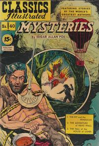 Cover Thumbnail for Classics Illustrated (Gilberton, 1947 series) #40 [HRN62] - Mysteries