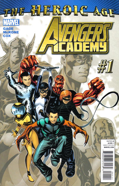 Cover for Avengers Academy (Marvel, 2010 series) #1 [2nd printing variant]
