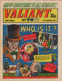 Cover for Valiant and TV21 (1971 series) #23rd December 1972