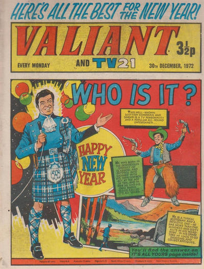 Cover for Valiant and TV21 (IPC, 1971 series) #30th December 1972