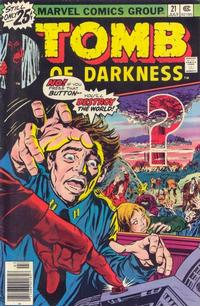 Cover Thumbnail for Tomb of Darkness (Marvel, 1974 series) #21