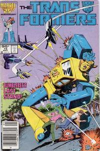 Cover Thumbnail for The Transformers (Marvel, 1984 series) #16 [Canadian Newsstand]