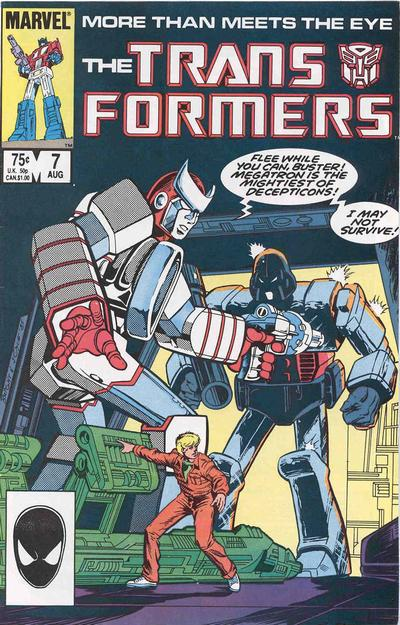 Cover for The Transformers (Marvel, 1984 series) #7 [Direct Edition]