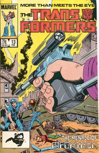 Cover for The Transformers (1984 series) #13 [Direct Edition]