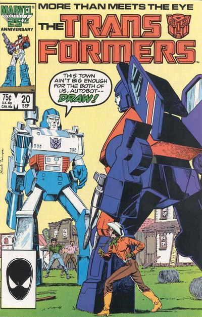 Cover for The Transformers (Marvel, 1984 series) #20 [Newsstand]