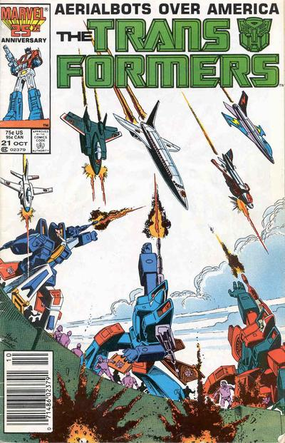 Cover for The Transformers (Marvel, 1984 series) #21 [Newsstand]