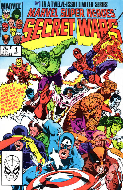 Cover for Marvel Super-Heroes Secret Wars (1984 series) #1 [direct]