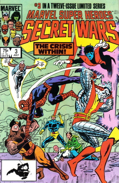 Cover for Marvel Super-Heroes Secret Wars (Marvel, 1984 series) #3 [Newsstand Edition]