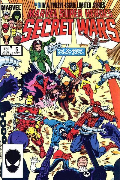 Cover for Marvel Super-Heroes Secret Wars (Marvel, 1984 series) #5 [Direct Edition]