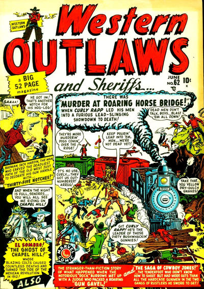 Cover for Western Outlaws and Sheriffs (Marvel, 1949 series) #62