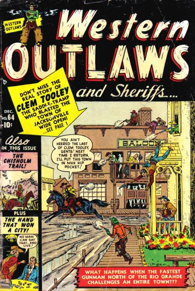 Cover for Western Outlaws and Sheriffs (Marvel, 1949 series) #64