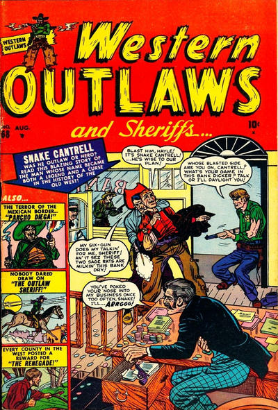 Cover for Western Outlaws and Sheriffs (Marvel, 1949 series) #68