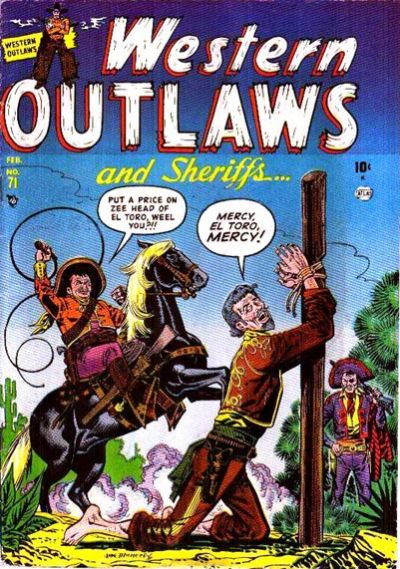 Cover for Western Outlaws and Sheriffs (Marvel, 1949 series) #71