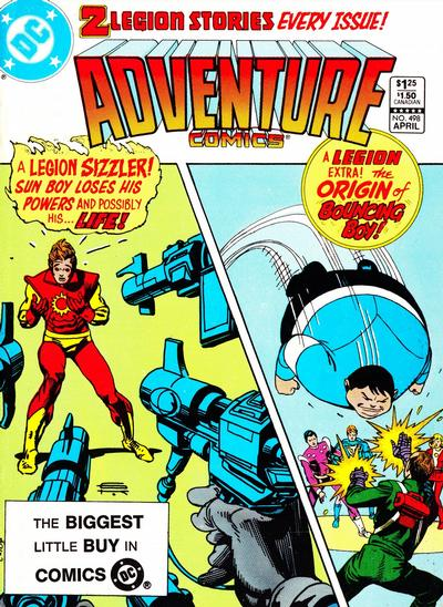 Cover for Adventure Comics (DC, 1938 series) #498 [Newsstand]