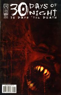 Cover Thumbnail for 30 Days of Night: 30 Days 'Til Death  (IDW Publishing, 2008 series) #1 [Retailer Incentive Cover]
