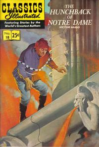 Cover Thumbnail for Classics Illustrated (Gilberton, 1947 series) #18 [HRN 166] - The Hunchback of Notre Dame [25 cent cover price]