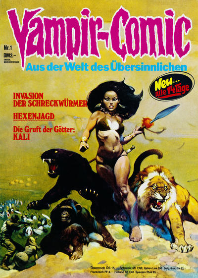 Cover for Vampir-Comic (Pabel Verlag, 1974 series) #1