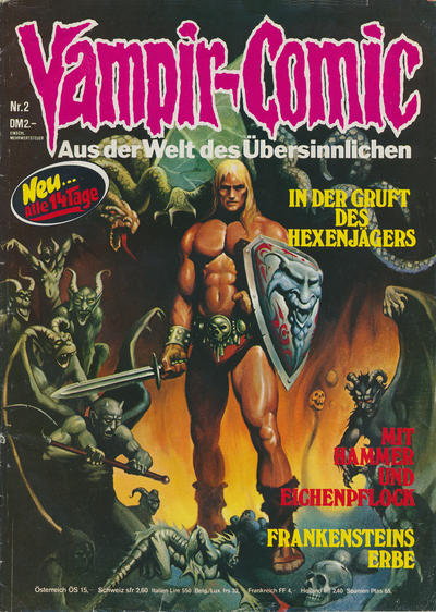 Cover for Vampir-Comic (Pabel Verlag, 1974 series) #2