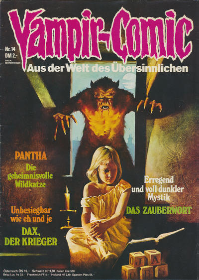Cover for Vampir-Comic (Pabel Verlag, 1974 series) #14