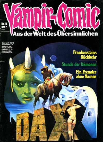 Cover for Vampir-Comic (Pabel Verlag, 1974 series) #15