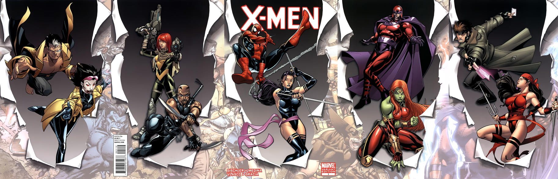 Cover for X-Men (Marvel, 2010 series) #1 [Variant Edition - Blank Cover]