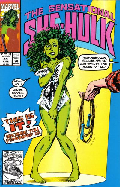 Cover for The Sensational She-Hulk (Marvel, 1989 series) #40 [direct]