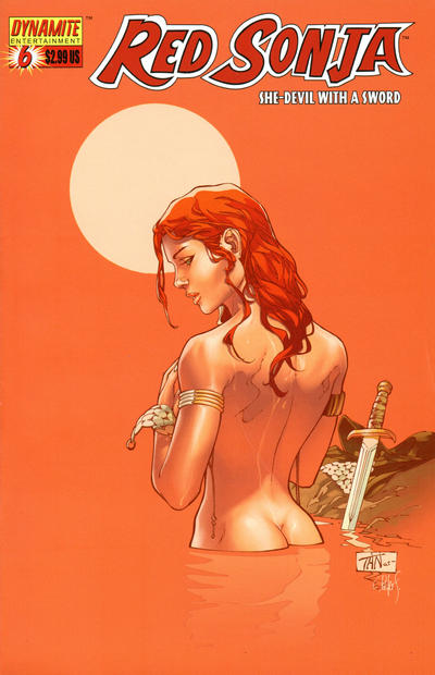 Cover for Red Sonja (Dynamite Entertainment, 2005 series) #6 [Mel Rubi Wraparound Cover]