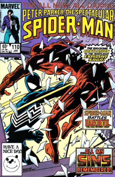 Cover for The Spectacular Spider-Man (Marvel, 1976 series) #110 [newsstand]