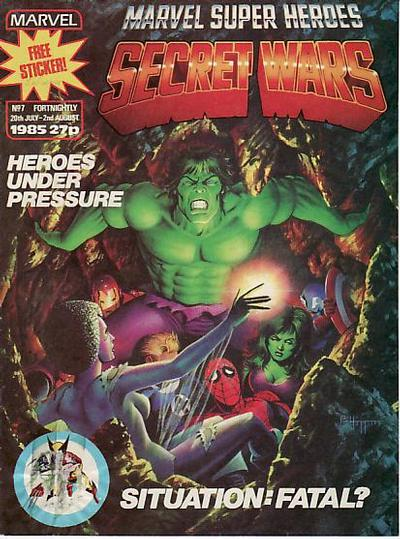 Cover for Marvel Super Heroes Secret Wars (Marvel UK, 1985 series) #7