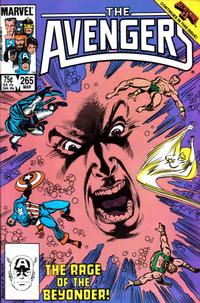 Cover for The Avengers (Marvel, 1963 series) #265 [Direct Edition]